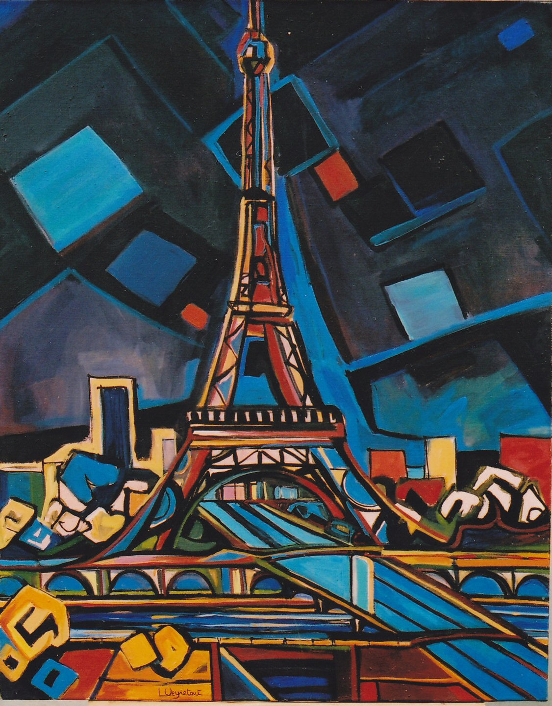 mes tableaux parisiens laurent veyretout artiste peintre. Black Bedroom Furniture Sets. Home Design Ideas