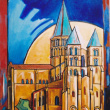 Paray le monial la basilique - 30M 92 x 60 cm, 2002
