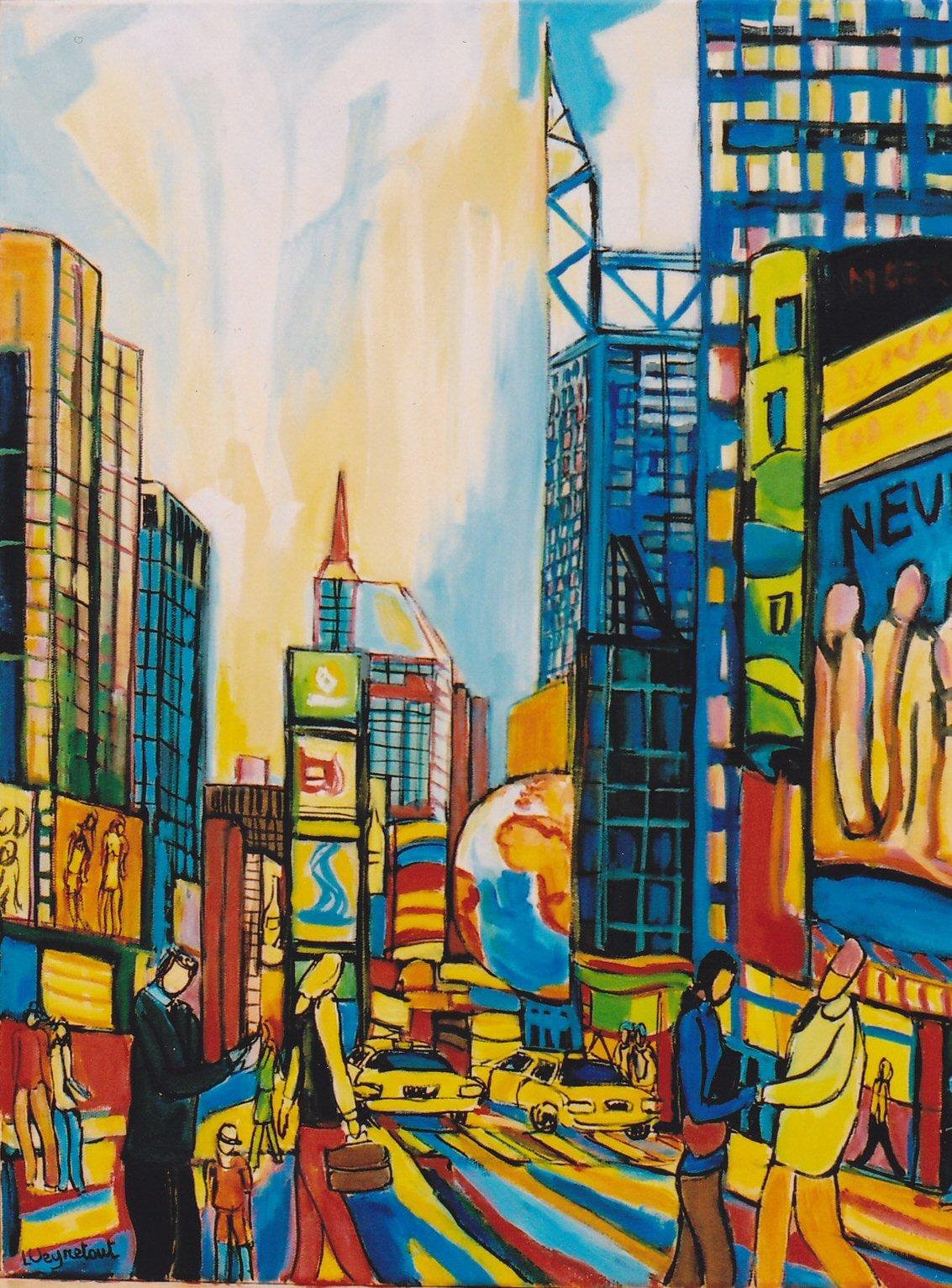 Mes tableaux de New-York - Laurent Veyretout Artiste peintre
